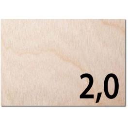 Taglio laser su compensato di betulla spessore mm 2,0