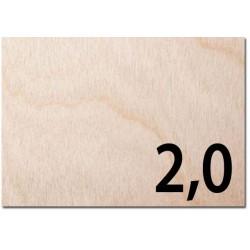 Taglio laser su compensato AVIO spessore mm 2,0