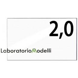 Taglio laser su plexiglass spessore mm 2,0