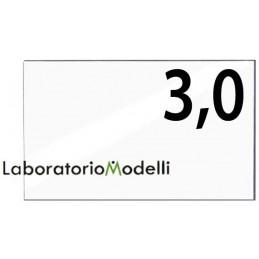Taglio laser su plexiglass spessore mm 3,0