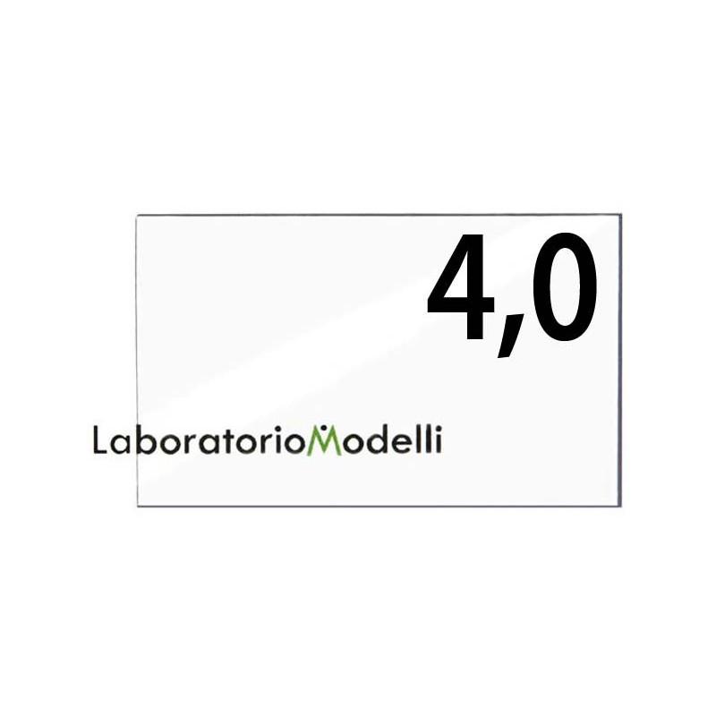 Taglio laser su plexiglass spessore mm 4,0