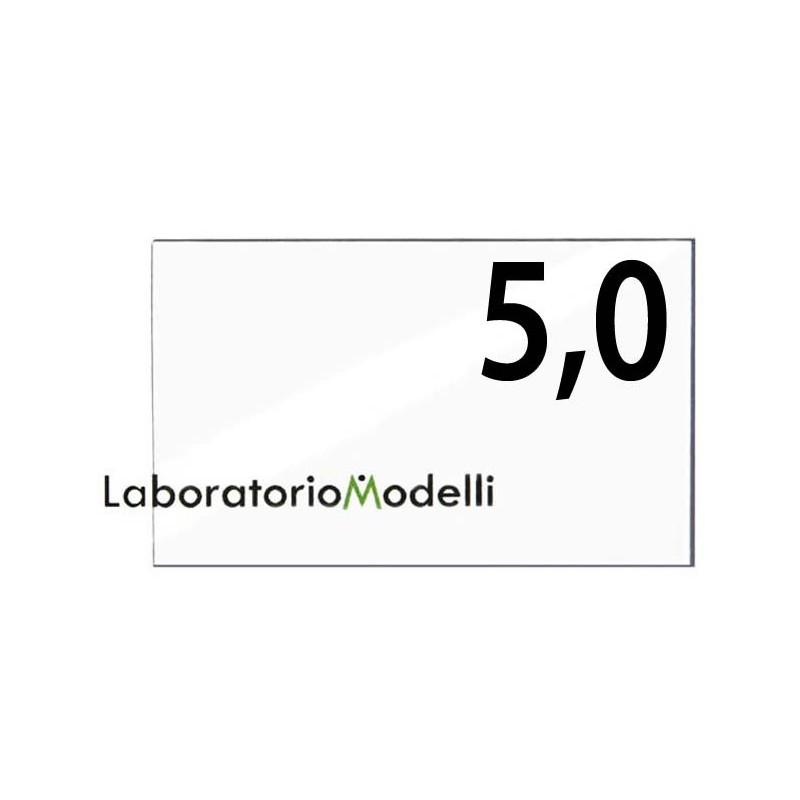 Taglio laser su plexiglass spessore mm 5,0