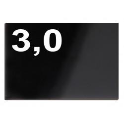 Taglio laser su plexiglass nero spessore mm 3,0
