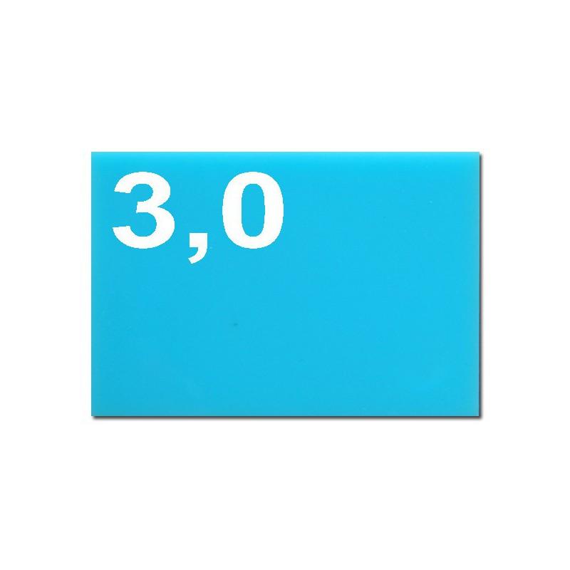 Taglio laser su plexiglassazzurro chiaro spessore mm 3,0